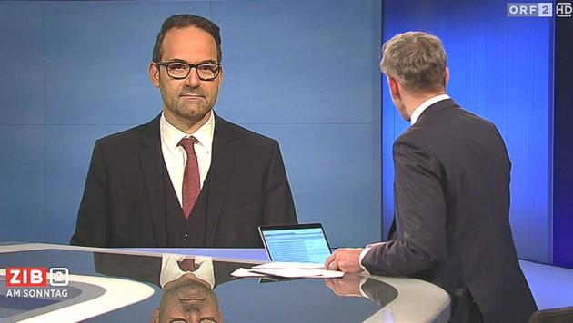 "Der Tiroler WK-Präsident Christoph Walser in der ""ZiB 2"" (Bild: Screenshot: ORF)"