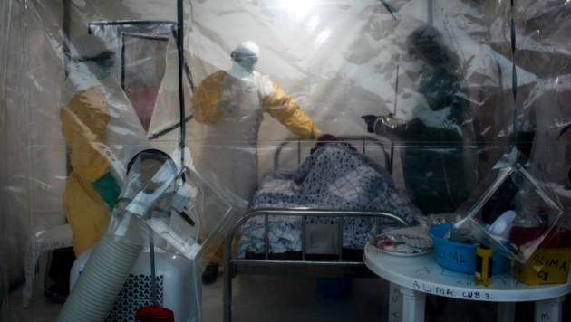 In der Region Butsili starben von 2018 bis 2020 mehr als 2000 Menschen an Ebola. Nun gibt es einen neuen Ausbruch. (Bild: AFP/John Wessels)