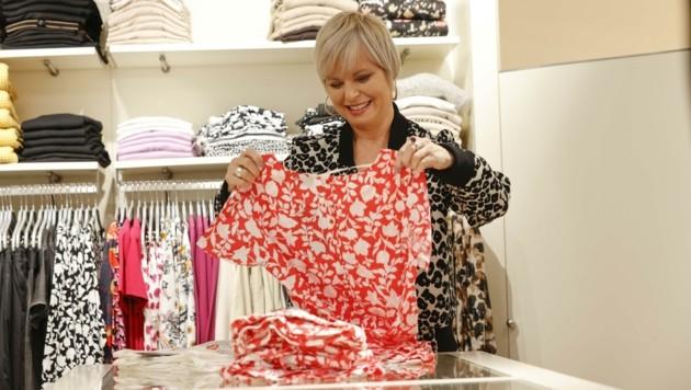 Modehändlerin Brigitte Hirschegger durfte sich in der Linzer Gasse nicht nur über die Stammkundinnen freuen. (Bild: Tschepp Markus)