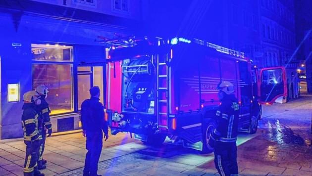 Berufsfeuerwehr löschte in der Linzer Gasse in Salzburg (Bild: Markus Tschepp)
