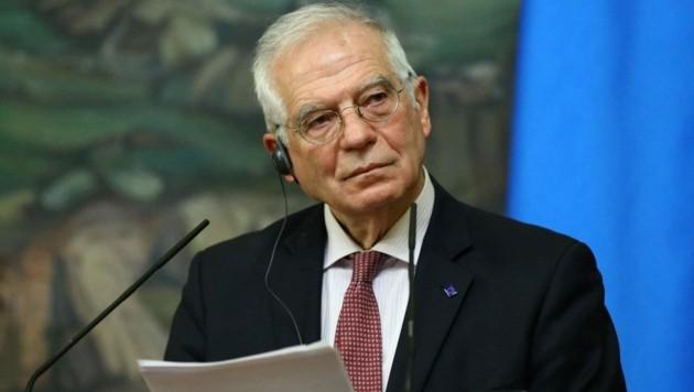 Der EU-Außenbeauftragte Josep Borrell war am Freitag in Moskau. (Bild: AFP)