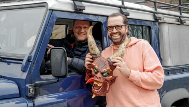 """Gery Seidl und Gerald Fleischhacker sind für den ORF """"Im Außendienst"""" unterwegs. (Bild: ORF)"""