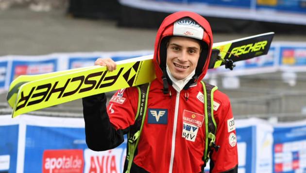Der Dornbirner Skispringer Ulrich Wohlgenannt will bereits in Bischofshofen zuschlagen. (Bild: Jan Simon Schäfer/SCW)