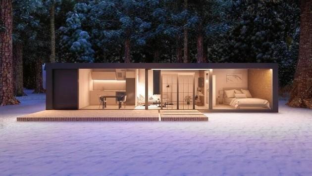 Mehrere Wohncontainer können zu einem großen Haus zusammengeschlossen werden. (Bild: zVg)
