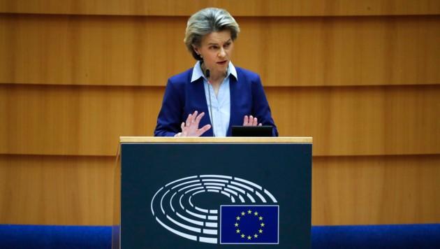 EU-Kommissionspräsidentin Ursula von der Leyen (Bild: ASSOCIATED PRESS)