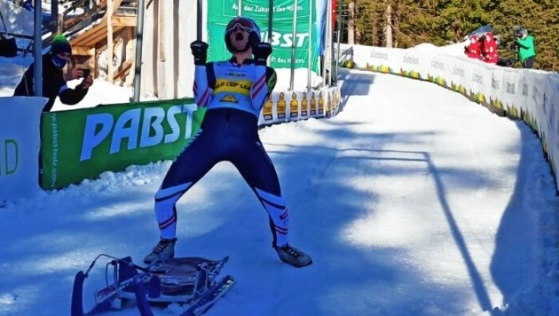 Geschafft! Michi Scheikl ist Gesamtweltcupsieger. (Bild: FIL)