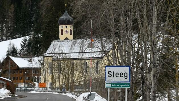 Klein, aber fein - so zeigt sich die Gemeinde Steeg im Lechtal. (Bild: zeitungsfoto.at/Liebl Daniel)