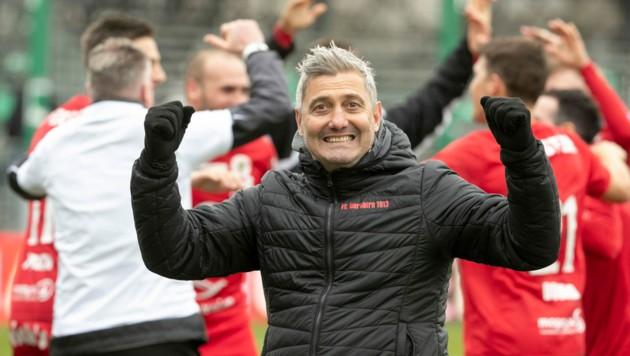 Markus Mader feierte in der vorigen Saison zwei Siege mit dem FC Dornbirn - gegen die Lustenauer Austria. (Bild: Maurice Shourot)