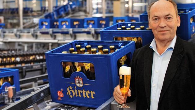 """Verbands-Chef Sigi Menz: """"Ehestmöglich aufsperren."""" (Bild: Hirter Bier, Brauereiverband, Krone KREATIV)"""