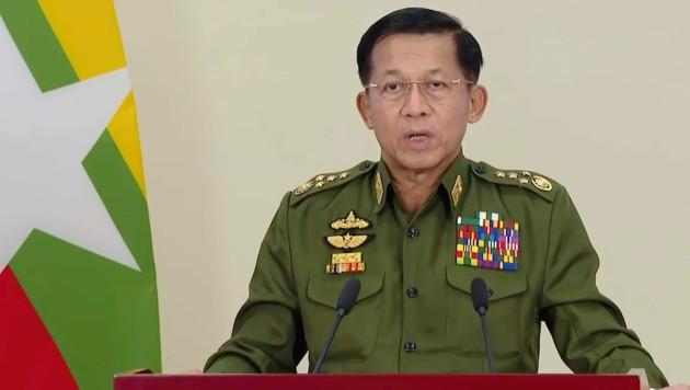 Junta-Chef Min Aung Hlaing (Bild: AP)