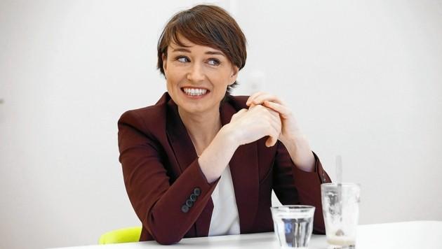 Die Grüne Klubchefin Sigrid Maurer im Interview. (Bild: Reinhard Holl)