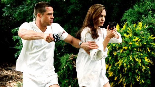 "Brad Pitt, Angelina Jolie in ""Mr. & Mrs. Smith"" (Bild: Everett Collection / picturedesk.com)"