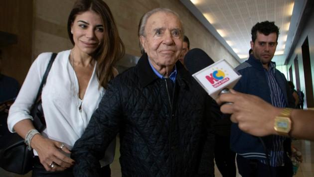 Carlos Menem mit Tochter Zulema und Sohn Carlos Nair im Jahr 2018 (Bild: Carlos Menem)