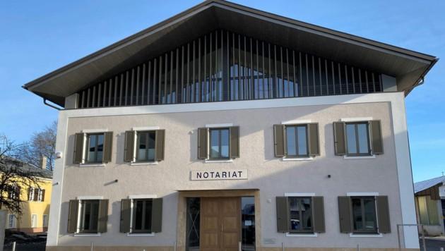 So sieht das neue Gebäude dort, wo der Karlwirt war, aus (Bild: Notariat Neumarkt)