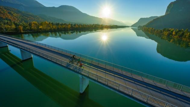 Die Leser des deutschen Bike&Travel Magazins haben den Drauradweg zu einem der beliebtesten Flussradwege in Europa ernannt. (Bild: Kärnten Werbung/Gert Steinthaler)