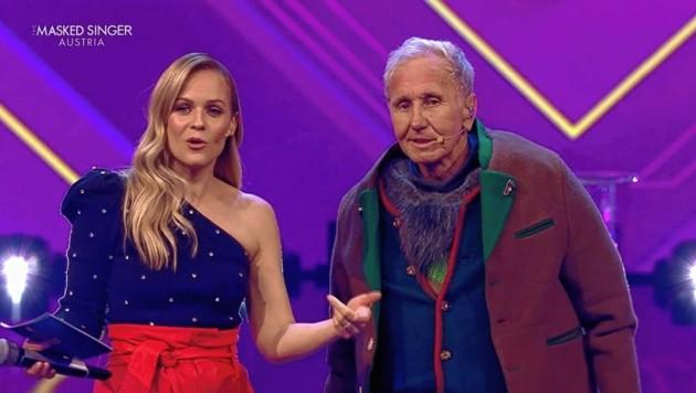 """Dancing Stars""-Duo bei PULS 4: Mirjam Weichselbraun und Klaus Eberhartinger (Bild: PULS 4)"