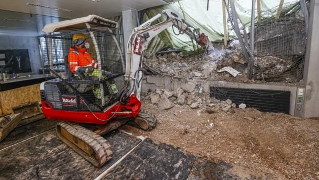 Mehrere Wochen dauern die Räumarbeiten im Erdgeschoss des Hauses der Stadtgeschichte in der Glockengasse. (Bild: Tschepp Markus)