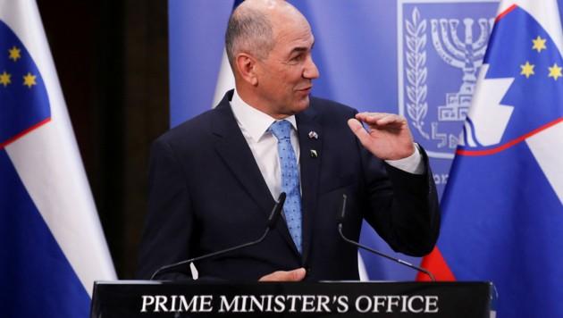 Die Regierung um den slowenischen Premier Janez Jansa hat ein Misstrauensvotum überstanden. (Bild: AFP )