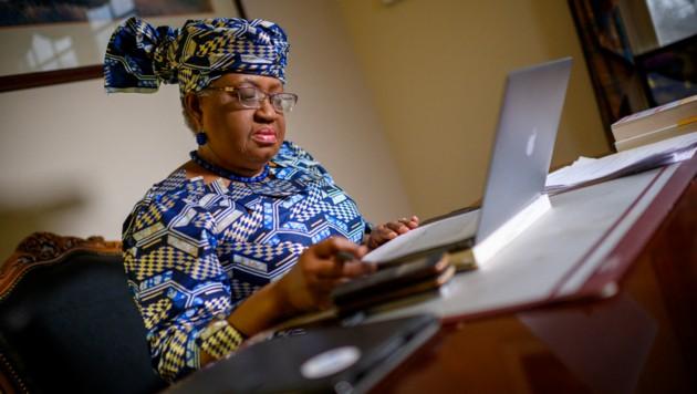 Okonjo-Iweala zieht bei der Reform der Welthandelsorganisation an einem Strang mit den Vereinigten Staaten. (Bild: AFP/Eric BARADAT)
