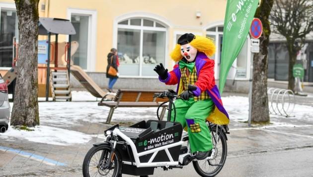 Einsamer Clown in Bad Hall (Bild: Dostal Harald)