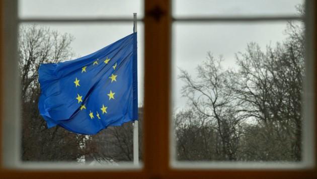 Während des Lockdowns sank die Zustimmung zur Europäischen Union. (Symbolbild) (Bild: APA/AFP/John MACDOUGALL)