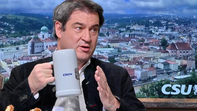 Söder verteidigte beim politischen Aschermittwoch seinen Kurs in der Corona-Pandemie. (Bild: AFP)