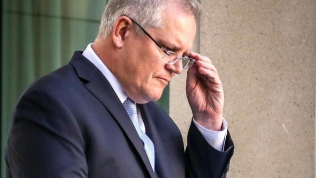 Der australische Premier Scott Morrison gerät wegen eines Vergewaltigungsskandals im Parlament zunehmend unter Druck. (Bild: AFP )