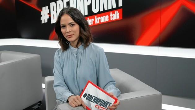 Brennpunkt-Moderatorin Katia Wagner (Bild: Klemens Groh)