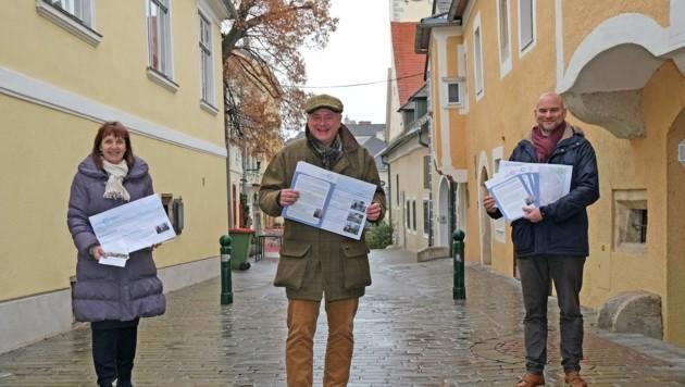 Wollen Fußgänger den Weg in Mödling ebnen: Drechsler, Hintner und Praschak (v. links) (Bild: Honorar)