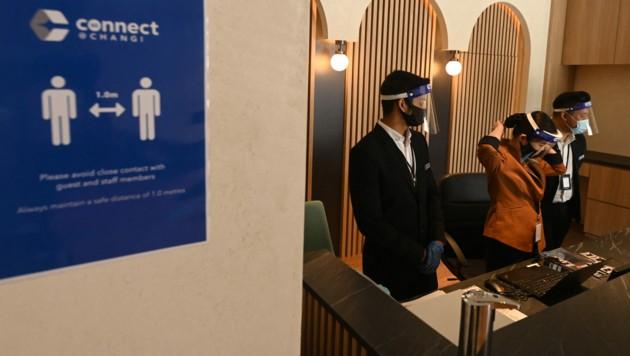 """Abstandsregeln sollen die Gäste im """"Corona-sicheren"""" Hotel dennoch einhalten. (Bild: AFP)"""