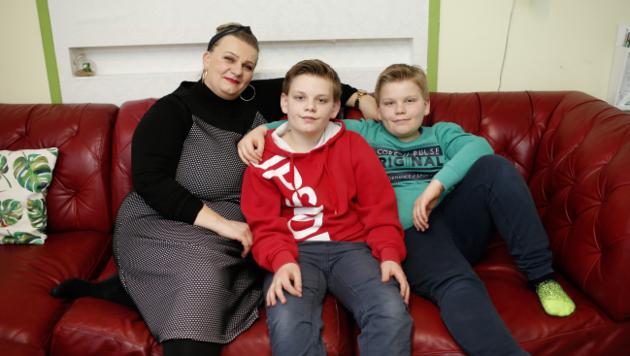 Familie Legen: Liliana, Leon und Luka. (Bild: Reinhard Holl)