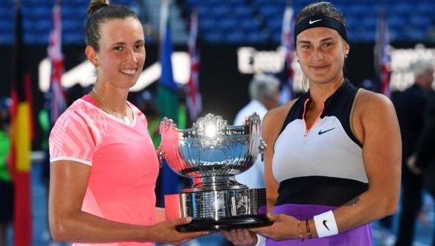 Elise Mertens (li.) und Aryna Sabalenka (Bild: AFP )