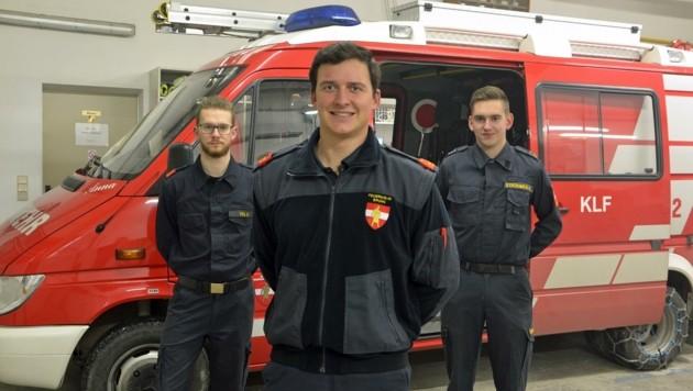 Die landesweit jüngste FF-Spitze: Fida, Danzinger, Strohmer (Bild: Stefan Mayer)