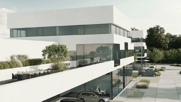 So sollen die neuen Gebäude auf dem Hannak-Gelände aussehen. (Bild: Hannak Immobilien)