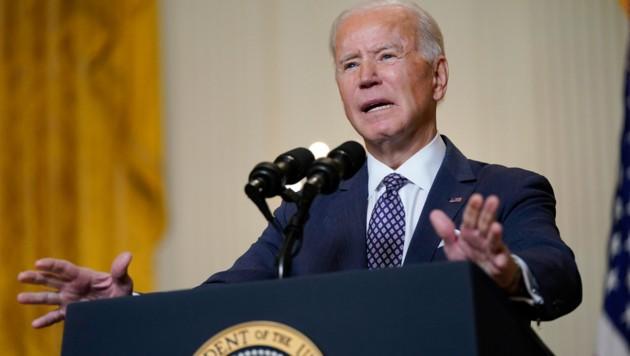US-Präsident Joe Biden reagierte zurückhaltend auf Putins Aufforderung zur Live-Debatte. (Bild: AP)