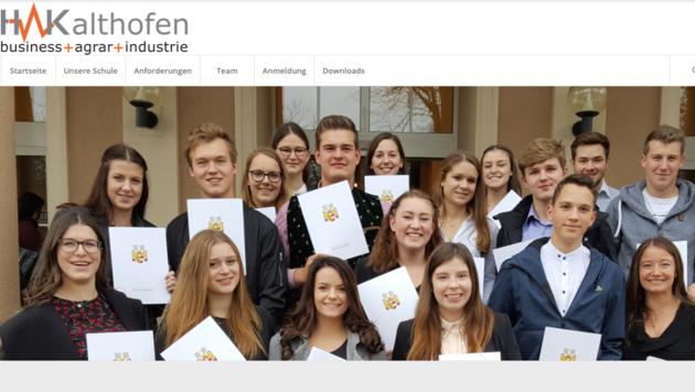 Der 15-Jährige hat die Homepage seiner Schule gestaltet. (Bild: HAK Althofen)