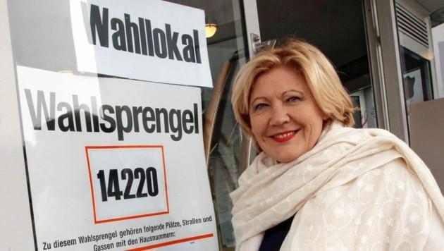 Maria-Luise Mathiaschitz schaffte es 2015 als erste Frau auf den Chefsessel in Klagenfurt. Sie tritt auch heuer wieder an. (Bild: Kronenzeitung)