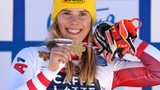 Katharina Liensberger (Bild: Copyright 2021 The Associated Press. All rights reserved)