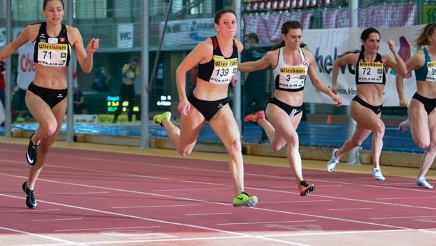 Magdalena Lindner Zweite von links. (Bild: GEPA/Christian Moser)
