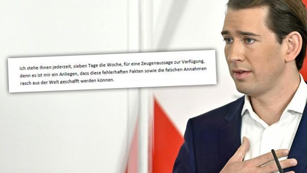 Bundeskanzler Sebastian Kurz (ÖVP) (Bild: APA/Herbert Neubauer, zVg, Krone KREATIV)