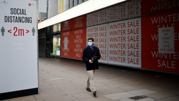Trotz des geplanten Ausstiegs aus dem Lockdown in Großbritannien, dürfte es für Handel und Gastronomie noch etwas dauern mit dem Öffnen. (Bild: AFP )
