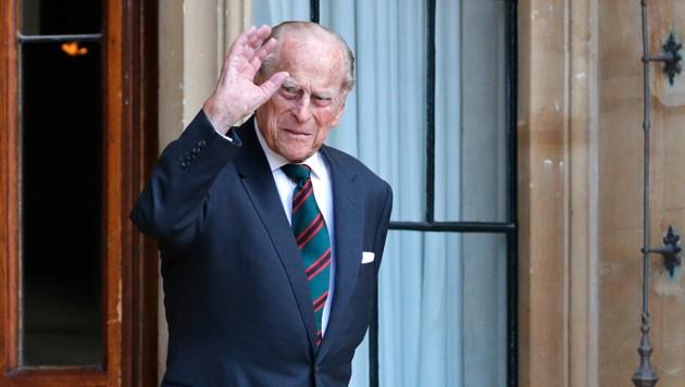 Prinz Philip am 22. Juli 2020 bei einer Zeremonie vor Schloss Windsor (Bild: ROTA / Camera Press / picturedesk.com)
