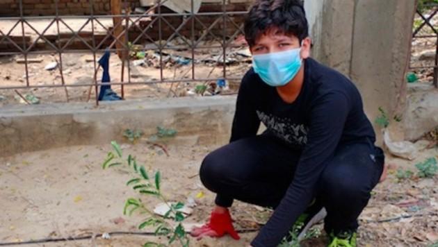 Mit der Aktion möchte Aarav Seth einen Beitrag gegen den Klimawandel leisten. (Bild: twitter.com/AaravSeth_)