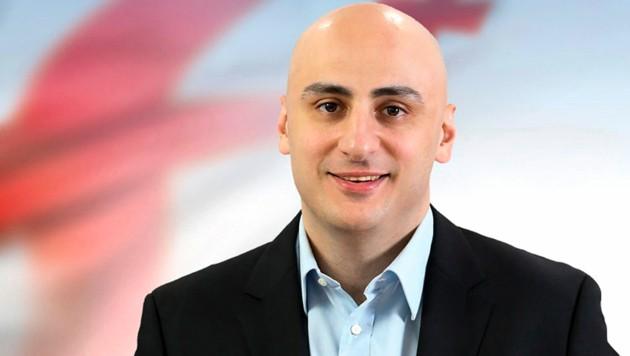 Anführer der Opposition in Georgien, Nika Melia (Bild: AP)