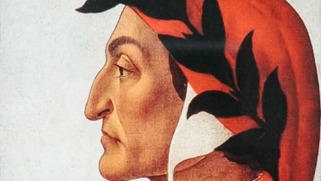 Der italienische Dichter und Philosoph Dante Alighieri von Sandro Botticelli um 1495 gemalt. (Bild: Berger Hubert)