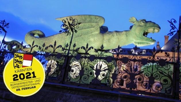 Wer kennt dieses Urviech nicht? Der Lindwurm ist unbestreitbar der mit großem Abstand bekannteste Klagenfurter. (Bild: Uta Rojsek-Wiedergut)