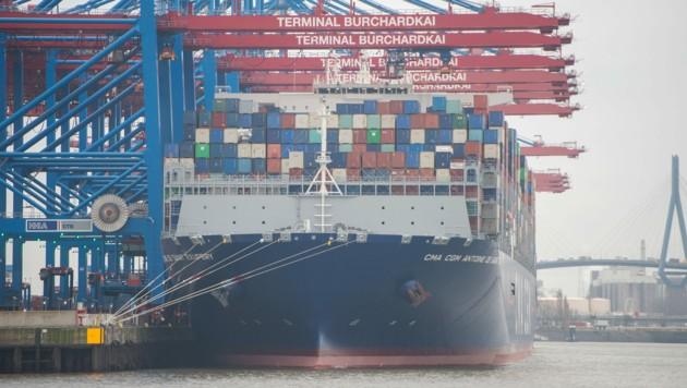 Im Hamburger Hafen haben Ermittler eine rekordverdächtige Menge Kokain sichergestellt. (Bild: APA/dpa/Daniel Bockwoldt)