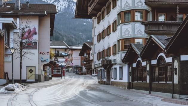 Leere Straßen in Mayrhofen (Bild: EXPA)