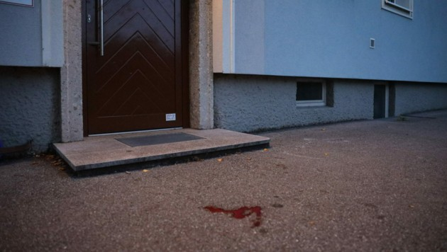 Das schwer verletzte Opfer hatte sich zum Hauseingang geschleppt und um Hilfe gerufen. (Bild: laumat.at/Matthias Lauber)