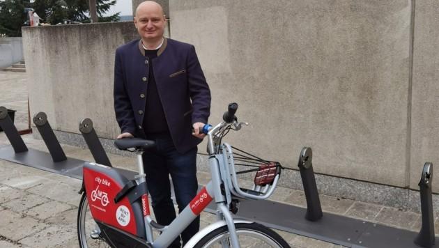Stadtrat Markus Hein sieht den neuen Radverleih als Gewinn für Linz. (Bild: zVg)
